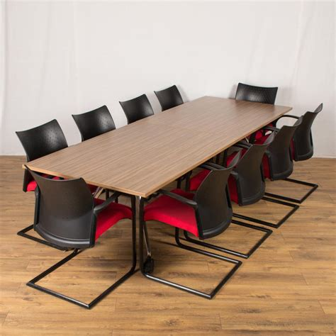 Folding Boardroom Tables Wilkhahn Walnut 2400x1000 Folding Boardroom Table