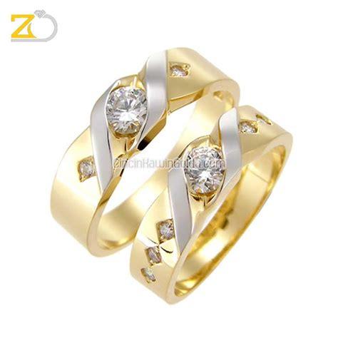 Cincin Kawin Emas Putih Perak R1683 cincin kawin emas kadar 75 perak 925 gd31079