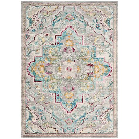 Blue Area Rug 8 X 10 Safavieh Mystique Gray Light Blue 8 Ft X 10 Ft Area Rug Mys921l 8 The Home Depot