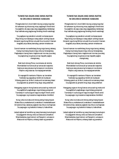 Wika Sa Tuwid Na Daan Essay by Tuwid Na Daan Ang Wika Natin Ni Dr
