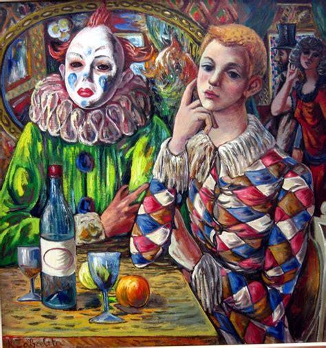 Imagenes De Joker Y Arlequin | arlequ 237 n y payaso con careta galer 237 a de fotos de
