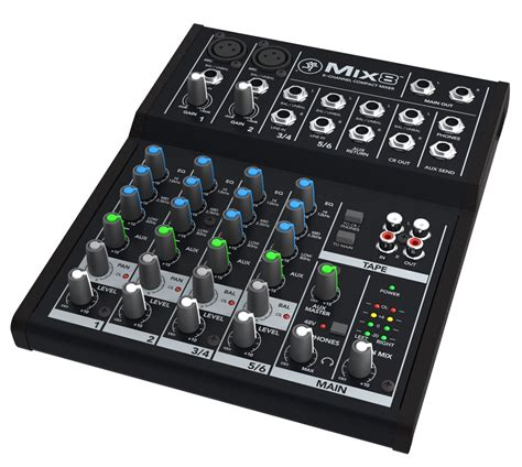 Mixer 8 Channel Bekas mackie mix8 8 channel compact mixer