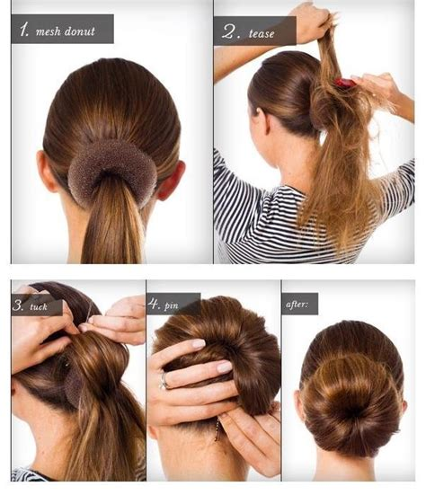 images of how to make hair buns with yaki braids how to make a bun mesh donut musely