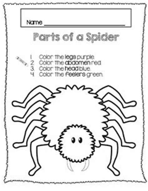 spider worksheets for kindergarten preschool fall on