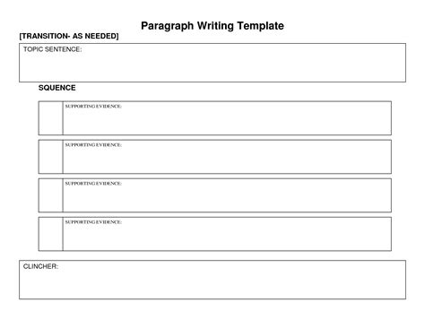 topic template paragraph graphic organizer paragraph writing