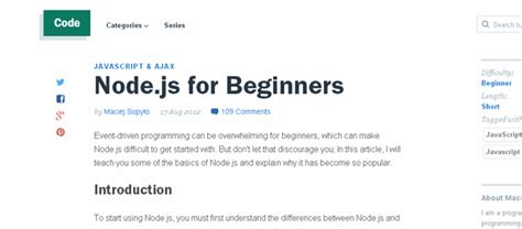 tutorial on javascript for beginners best node js tutorials and resources for beginners web