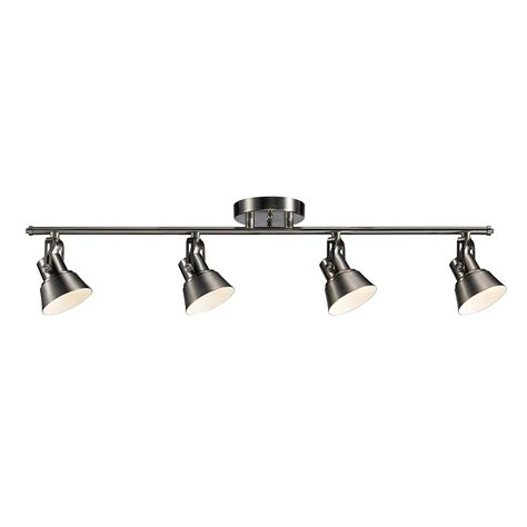 brushed nickel track lighting kits monteaux lighting 33 in brushed nickel integrated led