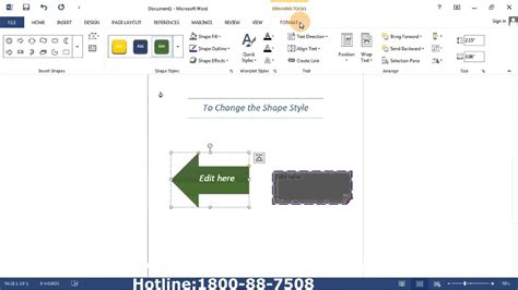 whats the style of 2013 microsoft word 2013 how change shape style youtube