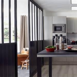 Lovely Separation Entre Salon Et Sejour #4: Verriere-cloison-industrielle-amovible-cuisine.jpg
