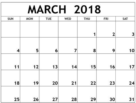 Calendar 2018 March School March 2018 Monthly Calendar Calendar Template Letter