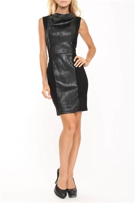 bagatelle faux leather dress werk wear pinterest