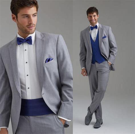 Wedding Suit Men Groom Lapel Party Dress Incision Is