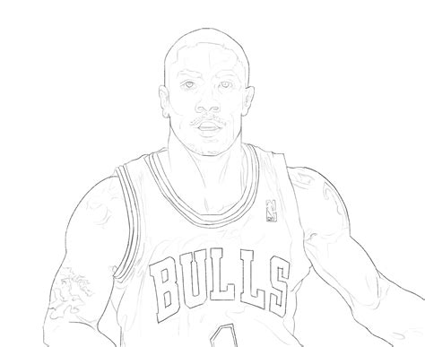 coloring pages of derrick rose fizzy s art blog derrick rose