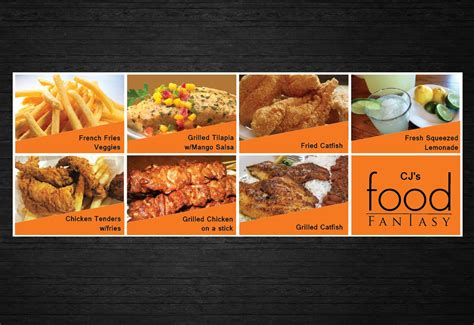 bold modern banner ad design for cj s food fantasy by uk bold modern business banner ad design for cj s food