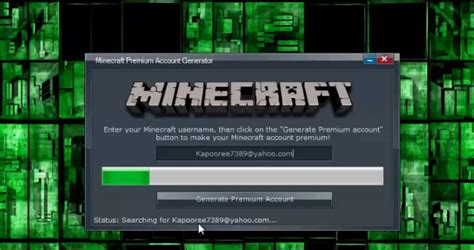 full version minecraft accounts free minecraft premium account generator 2013 software