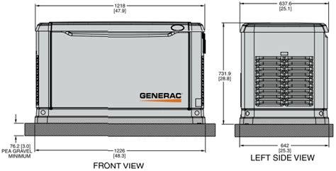 generac 005884 1 guardian auto standby backup generator 14 kw