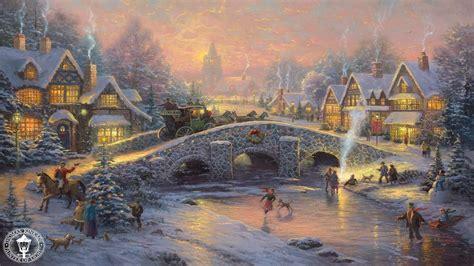 thomas kinkade christmas houses thomas kinkade christmas 495833 walldevil