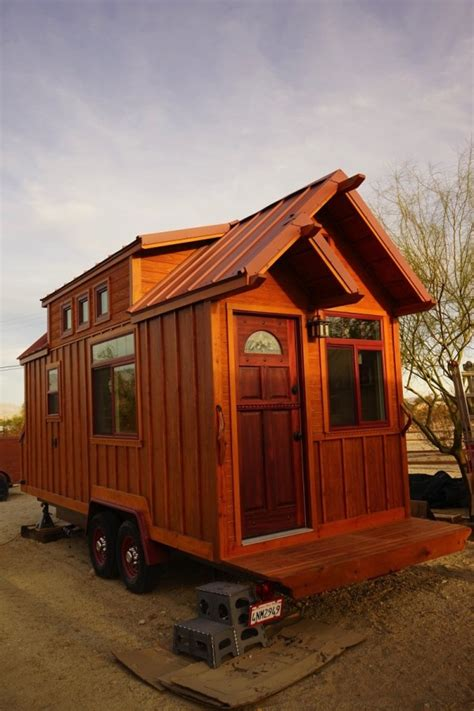 tiny home on wheels plans man builds craftsman style tiny house
