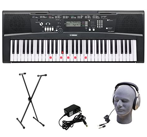 Headphone Untuk Keyboard Yamaha yamaha ez 220 61 lighted key portable keyboard package