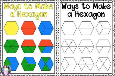 pattern block area activities many ways to make a hexagon anchor chart freebie perfect