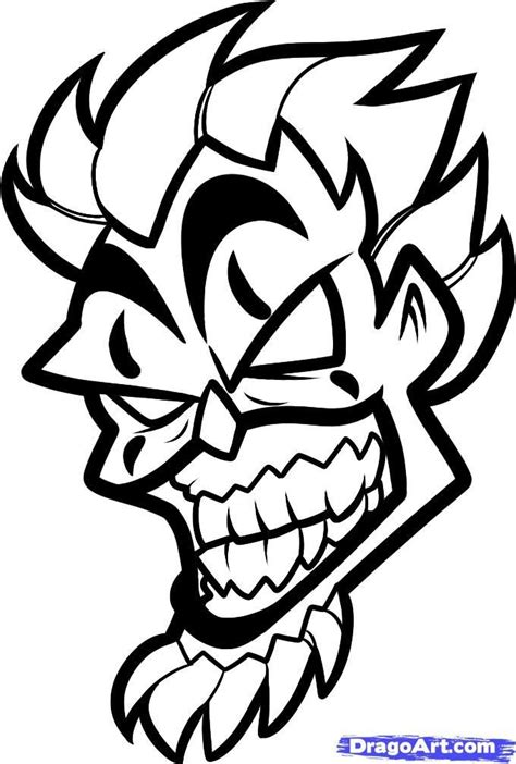 simple juggalo tattoo clown drawings how to draw violent j insane clown posse