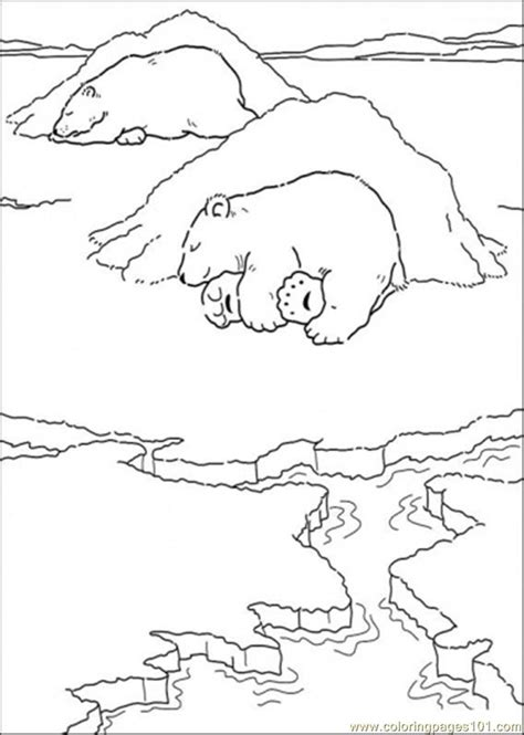 sleeping bear coloring pages to print coloring pages polar bear is sleeping cartoons gt little