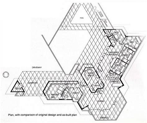 frank lloyd wright usonian house plans plan dr george ablin house 1961 bakersfield california