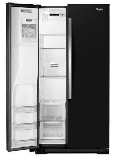 wrs970cide whirlpool 20 cu ft 36 quot wide side by side counter depth refrigerator with storeright