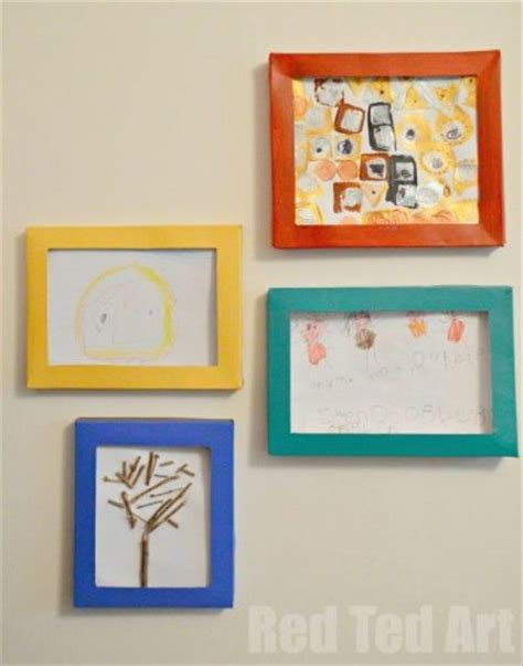10 diy kids art displays to make them proud kidsomania cereal box picture frames fun family crafts
