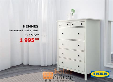 Commode Hemnes Ikea 6 Tiroirs by Promo Ikea Maroc Commode 6 Tiroirs Hemnes 1995dhs Les