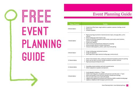 Free Event Planning Template Via Juice Marketing Group Event Planning Must Do S Pinterest Event Business Plan Template
