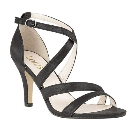 black strappy sandals black gabby shimmer strappy sandals lotus sandals from