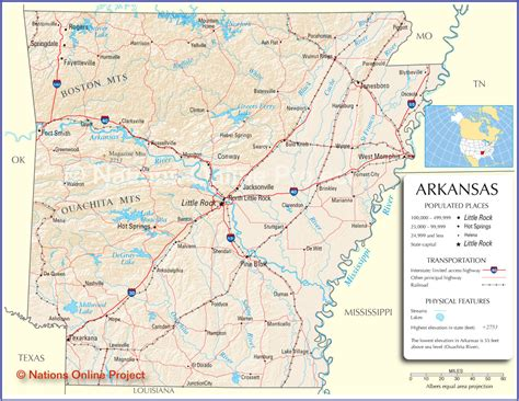 map usa arkansas arkansas map arkansas state map arkansas road map map of