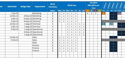 Vacation Planner Excel Template 2016 Thedl Employee Vacation Schedule Template