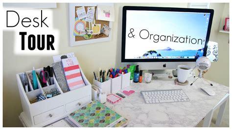 College Home Decor desk tour organization shannon sullivan youtube