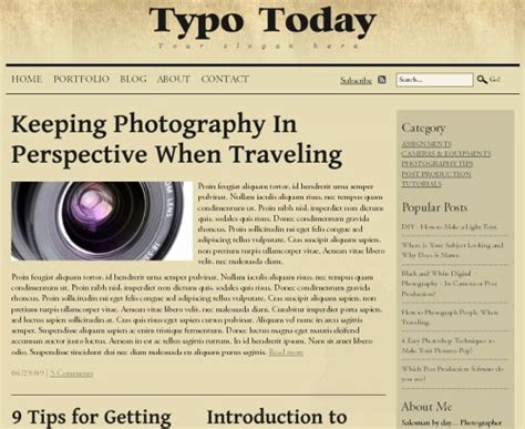 newspaper layout css free typographic xhtml css layouts for your designs
