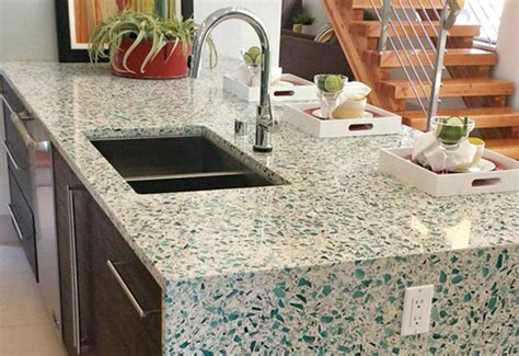 recycled kitchen countertops the benefits of vetrazzo recycled glass green product