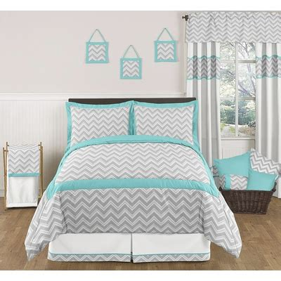 turquoise and gray comforter zig zag turquoise and gray chevron full queen bedding