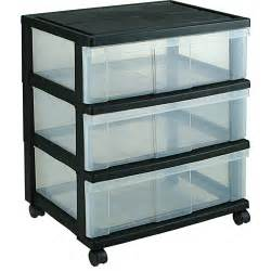 iris wide three drawer storage chest black in storage