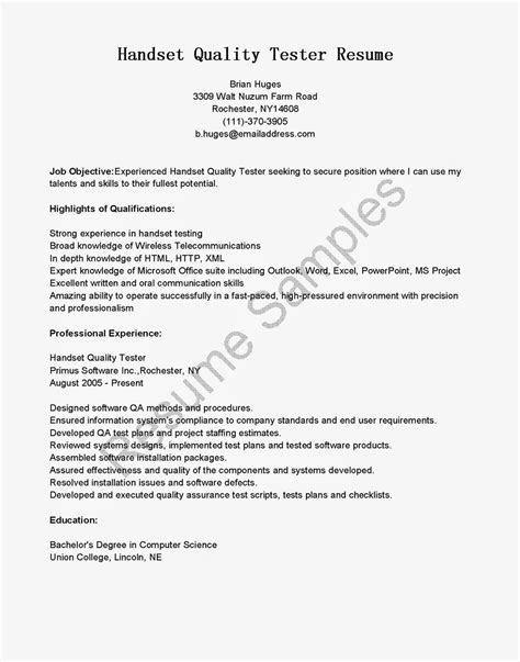 Reference Letter Qa Tester Resume Sle Simple Objective Apa Resume Exle Of Resume Retail On Resume Director Of