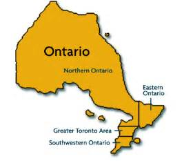 northern ontario map canada quot just of wiarton south of the checkerboard