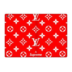 classic red louis vuitton monogram  supreme logo ipad
