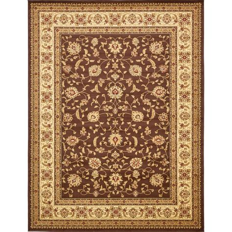 personalized rugs for home unique loom agra brown 10 ft x 13 ft area rug 3132922 the home depot