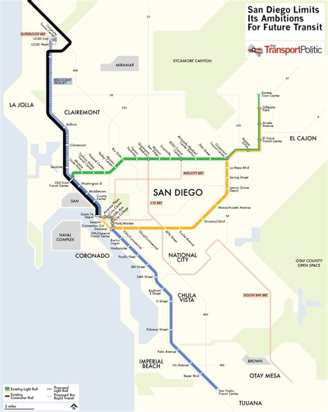san diego trolley map san diego plans extension to its trolley network mostly skipping inner city 171 the