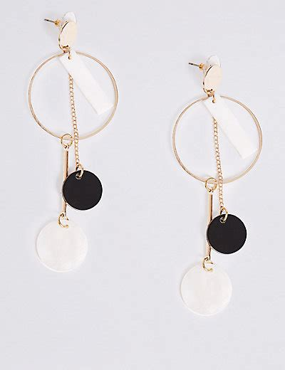 Marks And Spencer Oval Drop Earrings by Circle Drop Earrings M S