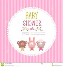 baby shower invitation card template on pink background stock vector image 58843476
