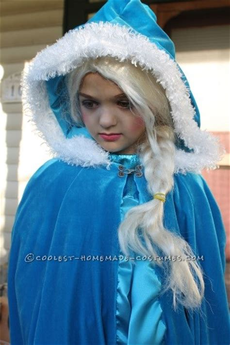 Elsa Handmade Costume - frozen elsa costume that warmed my six year