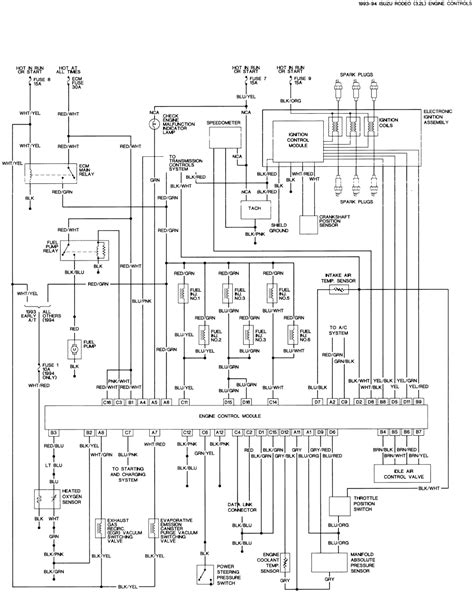 engine wiring isuzu spark wire diagram rodeo engine