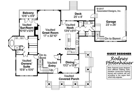 floor plans craftsman craftsman house plans huntington 42 017 associated designs