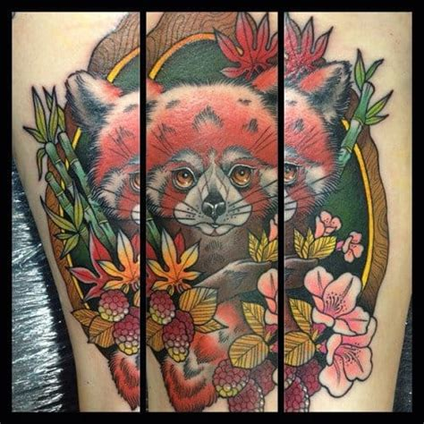 red panda tattoo meaning 18 endearing red panda tattoos tattoodo